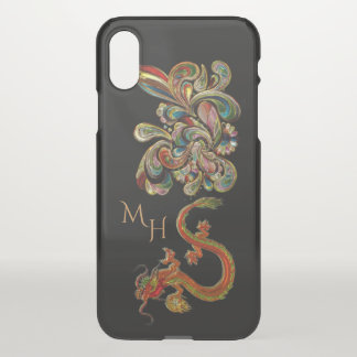 Metallised Ornate Chinese Dragon Art iPhone X Case