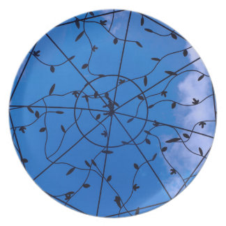 Metalwork on a Blue Sky Plate