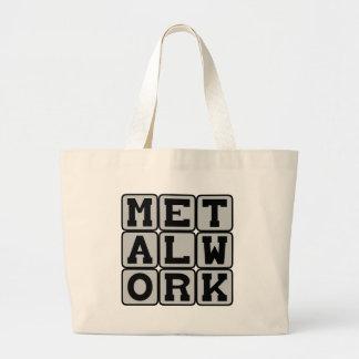 Metalwork, Working With Metal Large Tote Bag