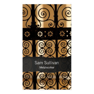Metalworker Wrought Iron Gate Pattern BusinessCard Pack Of Standard Business Cards