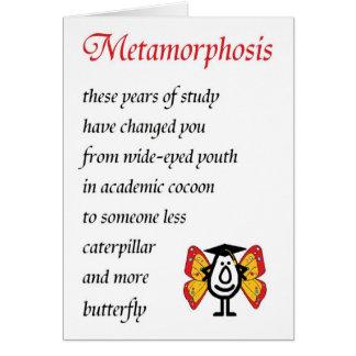 Metamorphosis - A funny College Graduation Poem Card