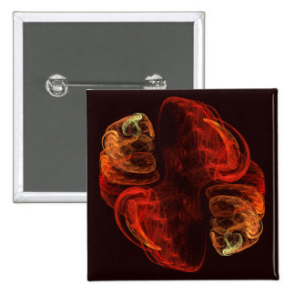 Metamorphosis Abstract Art Button (square)