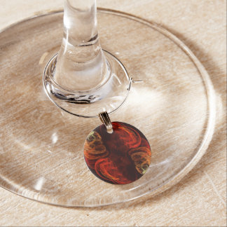 Metamorphosis Abstract Art Wine Charm