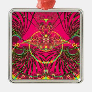 Metamorphosis Emerging from the Cocoon Fractal Metal Ornament
