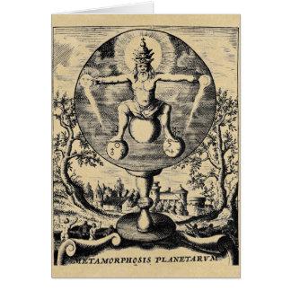 Metamorphosis of Metals in alchemy Card