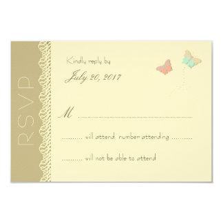 Metamorphosis Summer Wedding Reply Card 9 Cm X 13 Cm Invitation Card