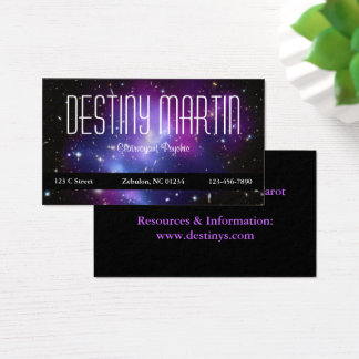 Metaphysical Purple Space Photo Business Card