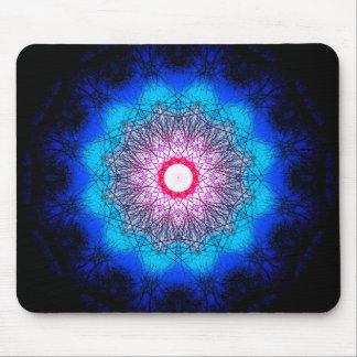 Metaphysical Snowflake Mandala Mouse Pad