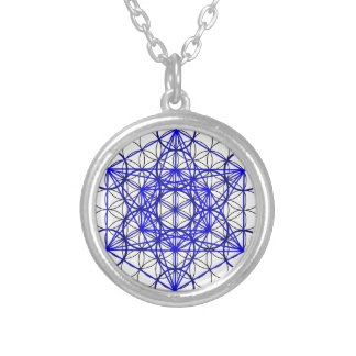 Metatron Flower Silver Plated Necklace