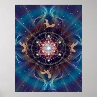 Metatron - Merkabah- Sacred geometry Poster
