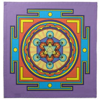 Metatron's Cube Mandala Napkin