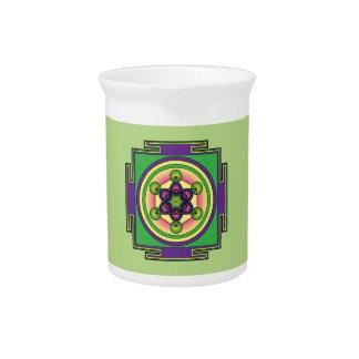 Metatron's Cube Mandala Pitcher