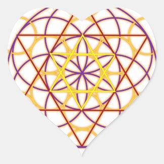 MetatronGlow1 Heart Sticker