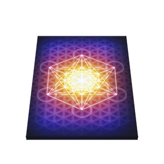 Metatron's Cube/Flower of Life Canvas Print