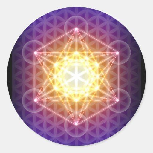 Metatron's Cube/Flower of Life Sticker - Round