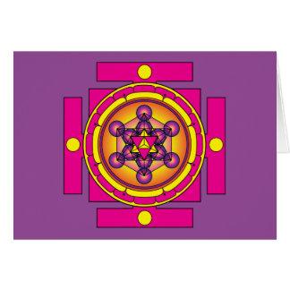 Metatron's Cube Merkaba Mandala Card