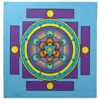 Metatron's Cube Merkaba Mandala Napkin