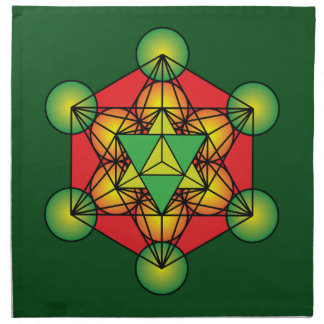 Metatron's Cube Merkaba Napkin
