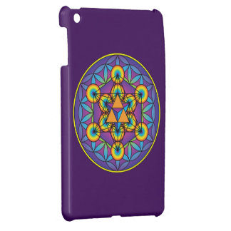 Metatron's Cube Merkaba on Flower of Life Cover For The iPad Mini