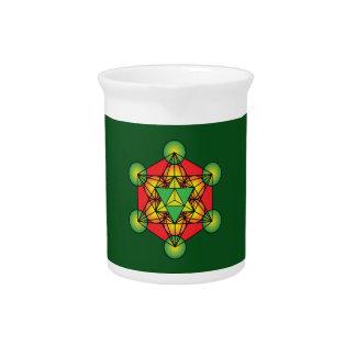 Metatron's Cube Merkaba Pitcher