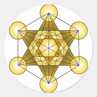 Metatron's Cube Round Sticker