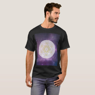 Metatrons Cube Sacred Geometry Galaxy Art T-Shirt