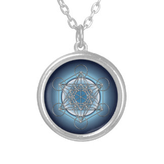 Metatrons Cube Silver Plated Necklace