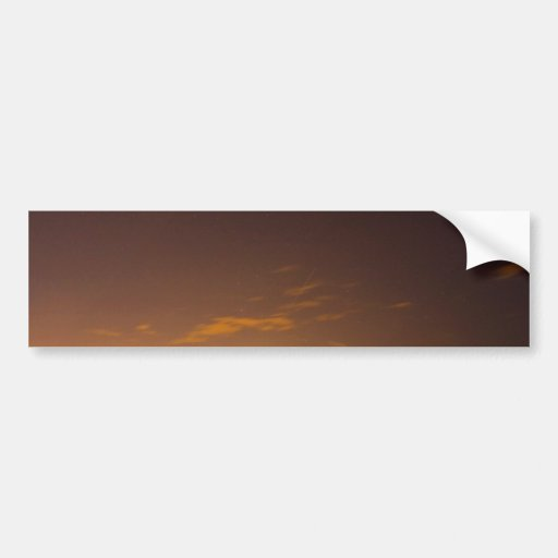 Meteor at Sunset Bumper Stickers