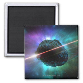 Meteor in Space Refrigerator Magnets