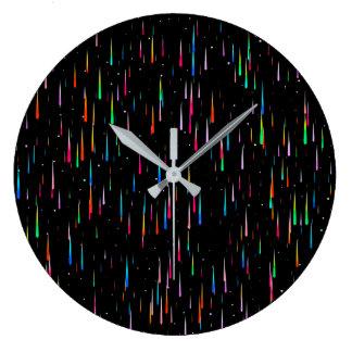 Meteor Rain - wall clock