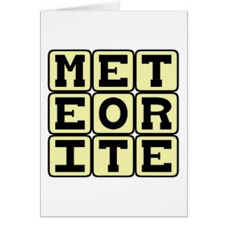 Meteorite, Space Debris Card