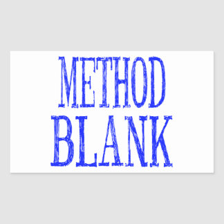 Method Blank Stickers BLUE