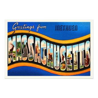 Methuen Massachusetts MA Vintage Travel Souvenir Photographic Print