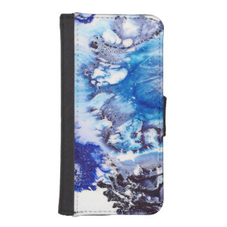 Methylene Blue Abstract Cell iPhone SE/5/5s Wallet Case