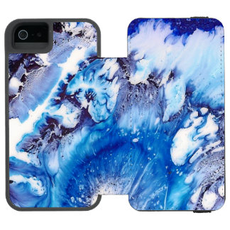 Methylene Blue Abstract Incipio Watson™ iPhone 5 Wallet Case