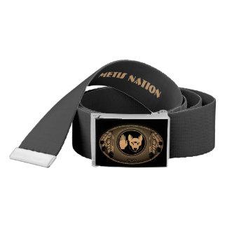 Metis Belts Personalize Metis Wolf Flag Belt