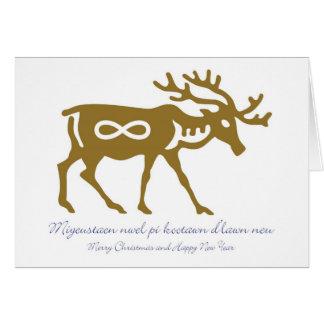Metis Christmas Card with Reindeer