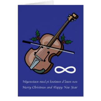 Metis Fiddle Christmas Card