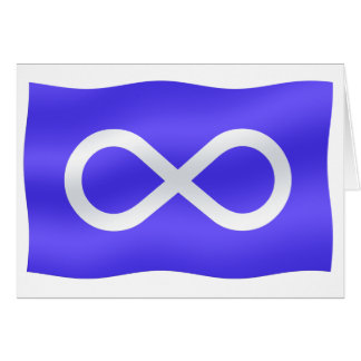 Metis Flag Card Personalized First Nations Card