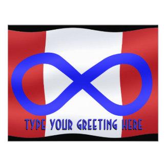 Metis Flag Invitations Custom Metis Canada Card