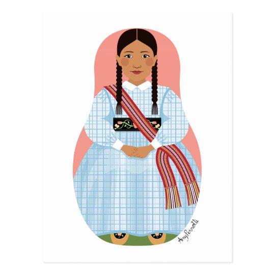 Métis Nation of Canada Matryoshka Postcard