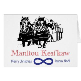 Metis Sleighride Christmas Card
