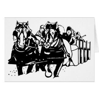 Metis Sleighride Christmas Card with Greeting