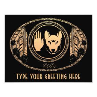 Metis Wolf Invitations Personalized Rebel Art Card