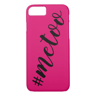 #MeToo Hashtag Typography Hot Pink Me Too iPhone 8/7 Case