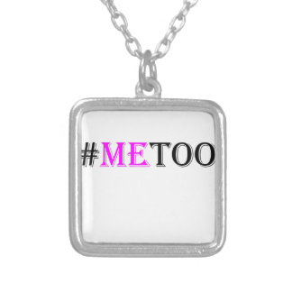 #METOO Movement For Womens Rights And Equality Silver Plated Necklace
