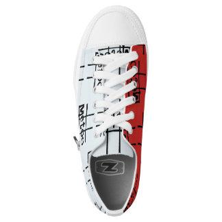 #metoo Sneakers in red 'n light blue by DAL