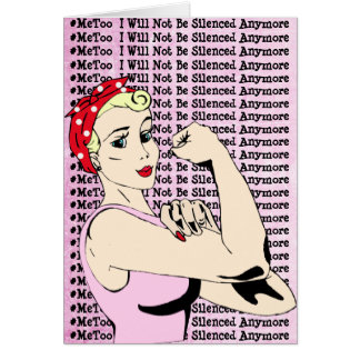 #MeToo Warrior Lady Support Card