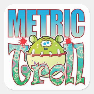 Metric Troll Square Sticker