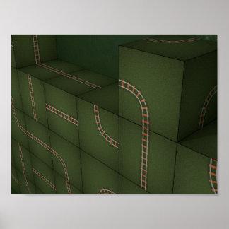 Metris Cubes Poster